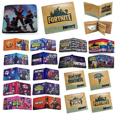 AU Fortnite Kids Boys Short Bifold Purse Money Wallet Bag Xmas Birthday Gifts