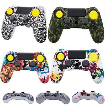 Soft Camouflage Silicone Case Cover Protector Grip for PS4 Controller Gamepad AU