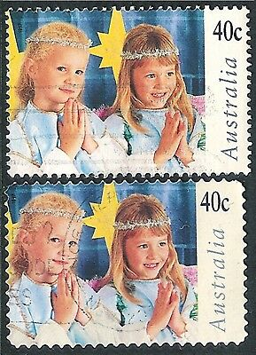 1997 Christmas - 40c Nativity Play Pair Sheet & P&S Stamps Used