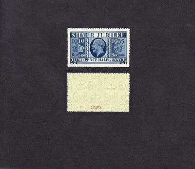 King George V Prussian Blue Sg 456a Forgery
