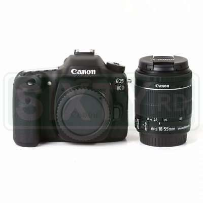 NEW Canon EOS 80D Digital SLR Camera + 18-55mm f/3.5-5.6 IS STM Lens