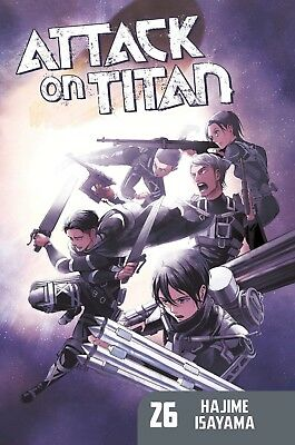 Attack on Titan 26 by Hajime Isayama Manga Science Fiction Paperback NEW