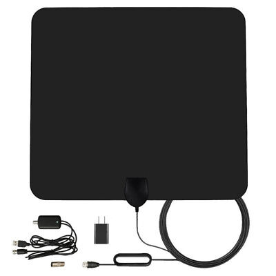 Super Thin Digital Indoor 1080P HDTV Antenna Free TV Signals Amplified 50 Miles
