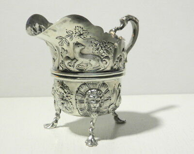Antique 1900 Birmingham Sterling Creamer by Thomas Hayes