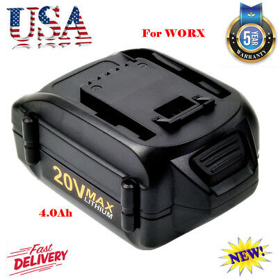 4.0Ah 20V 20 WA3520 Extend Battery Li-Ion For Worx WA3525 W155 WG163 WG151 Tools