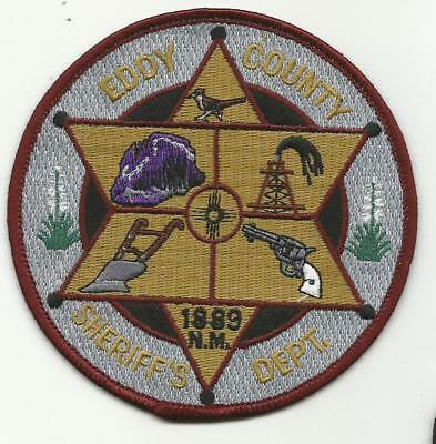 Eddy County NEW MEXICO NM Sheriff Police patch Road Runner plow pistol Edward Ed