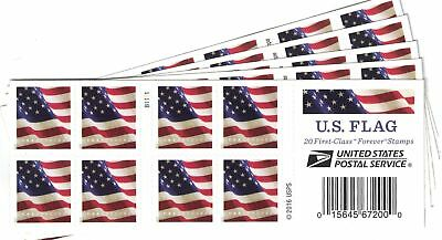 U.S. Flag USPS Forever Stamps, Book of 20 - 2017 (5 Books of 20 Stamps)