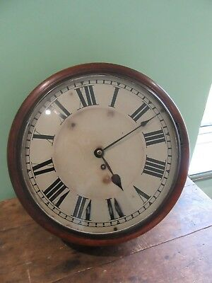 19Th Century 12In Fusee Wall Clock.