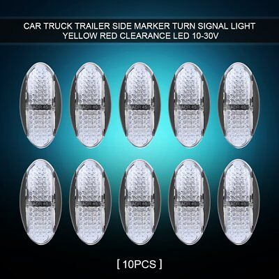 10pcs Waterproof 4 LED Side Marker Lights for Car Trailer Truck Van Boat 10-30V
