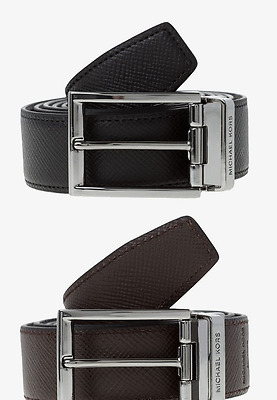 Neuve Ceinture Michael KORS Homme Cuir Reversible   NEW Men Leather Belt cc15be91cb3