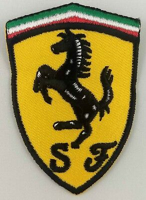 Ferrari Racing Shield Patch Embroidered Iron On Applique