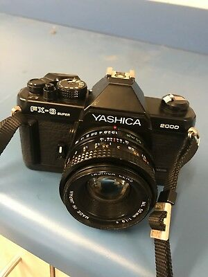FOR SALE YASHICA FX-3 SUPER 2000 35mm SLR Film Camera From Japan W/50mm Lens