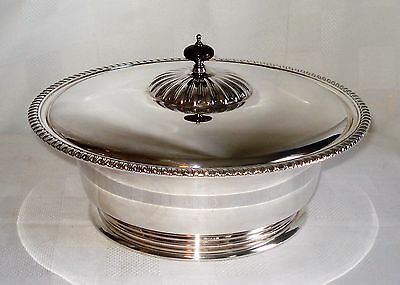 Birks Regency E. P. Copper Silver Plated Covered Dish Bowl (Canada) 272