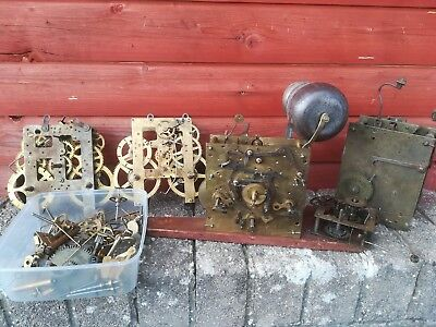 Antique 9 Bell longcase grandfather clock movement and other movements