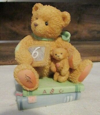 Cherished Teddies Chalking Up Six Wishes Age 6 Bear Figurine Style # 911283