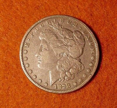 1878 8 TAIL FEATHER 8 TF MORGAN SILVER DOLLAR  $1 very fine VF