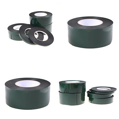 6-60mm*10m Strong Waterproof Adhesive Double Sided Foam Black Tape For Car GxnFI