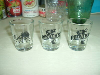 Lot Pirate Treasure - Set of 3 Shot Glasses