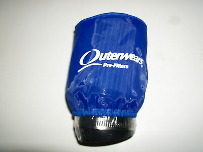 Go Kart Racing CLONE or RAPTOR K&N style ANGLED air filter, Blue outerwears
