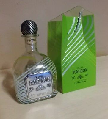 Patron Silver Tequila 1L Limited Edition Bee Cork Bottle Empty