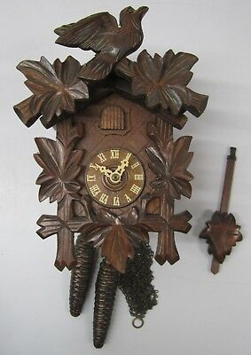 Vtg German Black Forest Regula Cuckoo Clock Animated Bird As Is Parts Repair