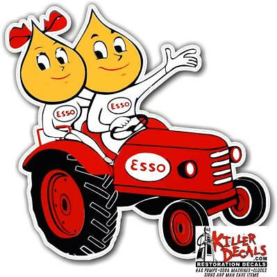 """12"""" Esso Tractor Decal Gas Oil Gas Pump Sign, Wall Art Sticker"""