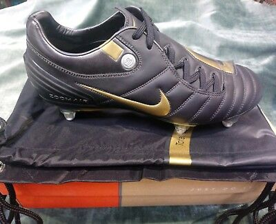 55133280d4a4 RARE BLACK GOLD Nike Air Zoom Total 90 Supremacy Sg Football Boots ...