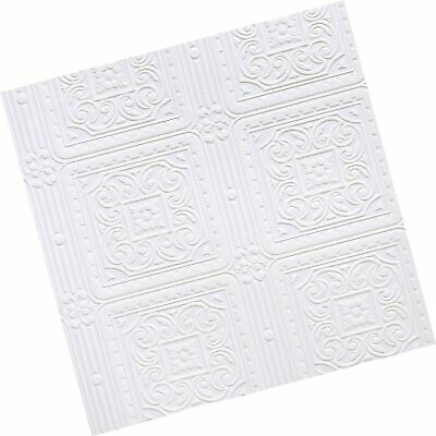 Brewster RD80000 Anaglypta Paintable Scroll In Square Tiles Wallpaper, 21-Inc...