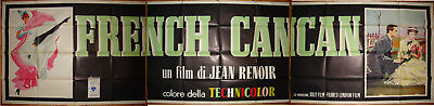 French Cancan-Jean Renoir-Jean Gabin-Musical-Moulin Rouge-Italian (165x39 inch)