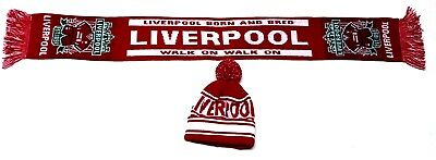 Liverpool Hat Scarf Set Kids Toddlers Up To 10 Years Football Gifts