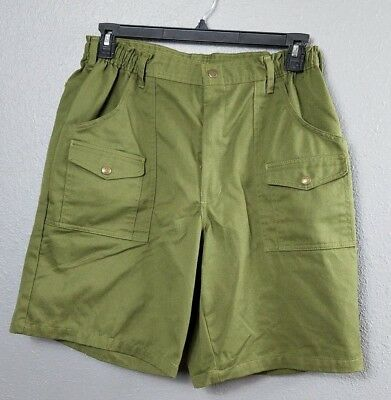 Boy Scouts 36 Shorts Leader BSA Official Uniform Green Cargo Pockets