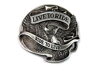 Live to Ride 75 Anniversary Belt Buckle for All Harley Lovers!