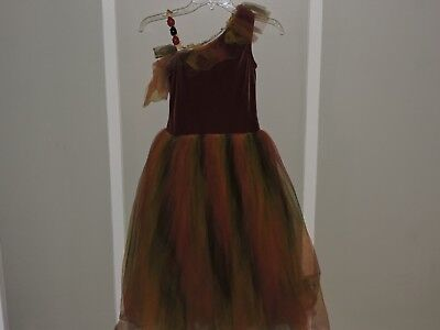 Child L Dance Dress - Fall Colors - Curtain Call - Brown/Yellow/Green