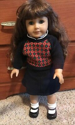 """American Girl Molly McIntire Historical Retired Doll Missing Glasses VG 18"""""""