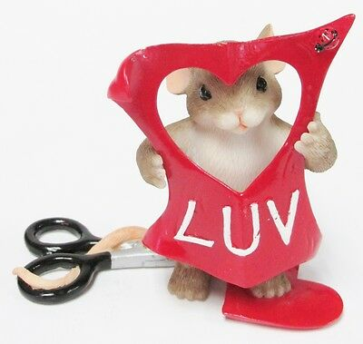 """Charming Tails 84/143 """"Cut out for Luv'in You"""" Valentine RETIRED Brand New- Box!"""