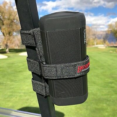 Bushwhacker Speaker Mount for Golf Cart Railing Blue Tooth Holder Wireless Bar
