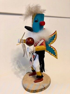 Hopi Kachina Doll Signed by Artist Sandra -  Butterfly 6.5""