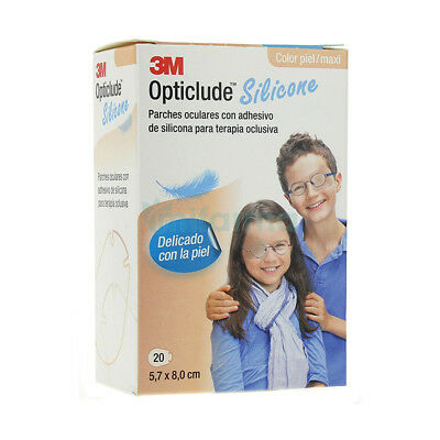3M Nexcare Opticlude Silicone Orthoptic Eye Patches 20 Each 5,7 x 8 Cm