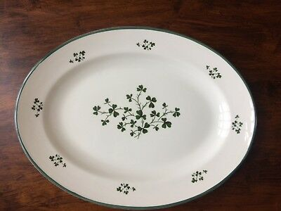 Carrigdhoun pottery serving platter ireland county cork shamrocks very nice HTF