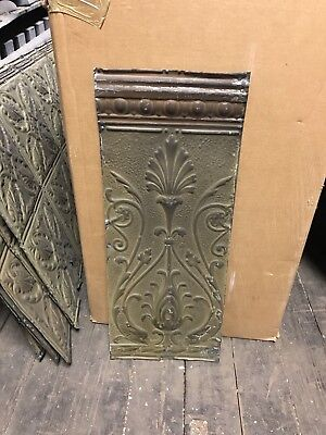 "Antique Tin Ceiling Panel 12"" X 27"" Apprx."