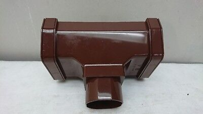 Freeflow Deep Flow Round Downpipe UPVC Running Outlet Brown FDF605 #25R445