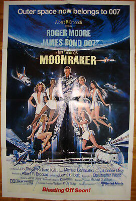 Moonraker-Sci fi-James Bond-R. Moore-R.Kiel-OS Int'l Advance (27x41 inch)