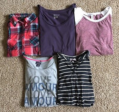 BIG LOT Of 11 Maternity Med Shirts Old Navy Motherhood Gap Derek Heart Cardigan