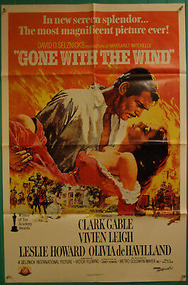 Gone with the Wind-V.Leigh-C.Gabble-OS Re 89 50th Anniversary (27x41 inch)