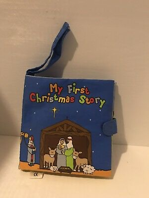 Mothercare ~ My First Christmas Story 🎅🏽 Soft Cloth Baby Book