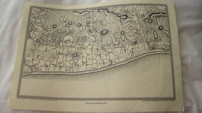 Worthing, West Sussex Map Of Stone Lane, Dating To 1813