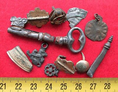 Mixed lot of metal detector finds found ,Silver,Bronze
