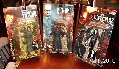 McFarlane Toys Movie Maniacs FIGURES THE CROW,PSYCHO,CANDYMAN 3 DAY OF THE DEAD
