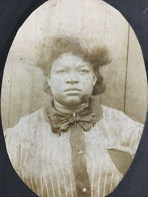 Antique Cabinet Card African American Young Woman