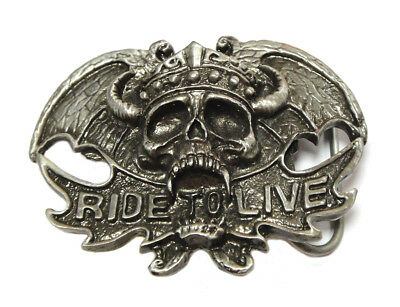Ride To Live Belt Buckle for All Motorcycle Lovers! Harley